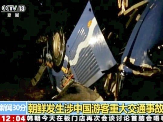 China North Korea Traffic Accident