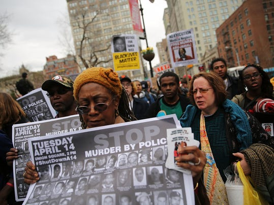 Activists Protests In New York's Union Square Over Recent Police Shootings