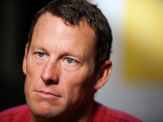 "FILE - In this Feb. 15, 2011 file photo, Lance Armstrong pauses during an interview in Austin, Texas. Lance Armstrong met in May with the panel investigating cycling's doping past in a meeting set up by the cyclist who was stripped of his seven Tour de France titles and banned for life over his use of performance-enhancing drugs. Armstrong attorney Elliot Peters declined to reveal specifics of what was discussed in the seven-hour meeting on May 22 at a hotel outside Dulles Airport in Washington. Peters told The Associated Press on Thursday, July 17, 2014 that ""Lance answered all their questions.""  (AP Photo/Thao Nguyen, File)"
