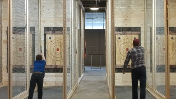 Axe Throwing facility to open in Greenville's Hampton Station