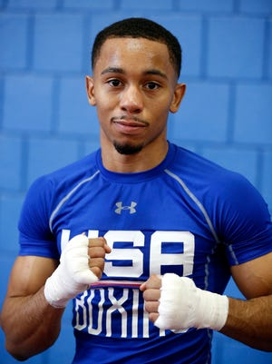 Duke Ragan, 23, of the West End trained at the Cincinnati Golden Gloves gym Wednesday May 3, 2017 before heading to Colorado to train with the U.S. Olympic Team.
