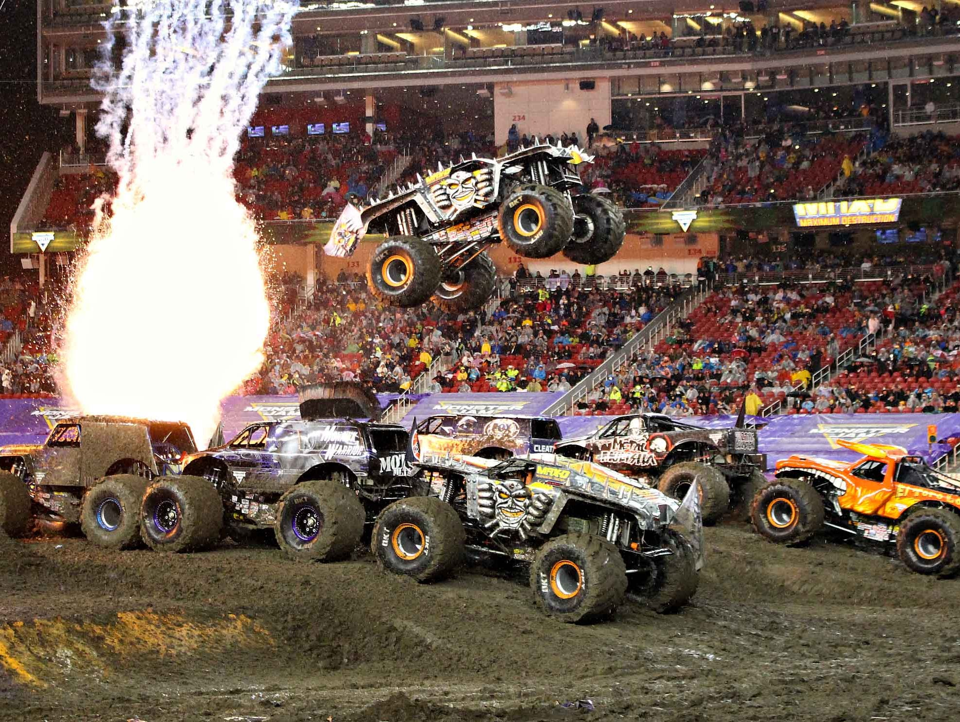 Purchase discounted tickets to Monster Jam at Nissan Stadium on June 24th.