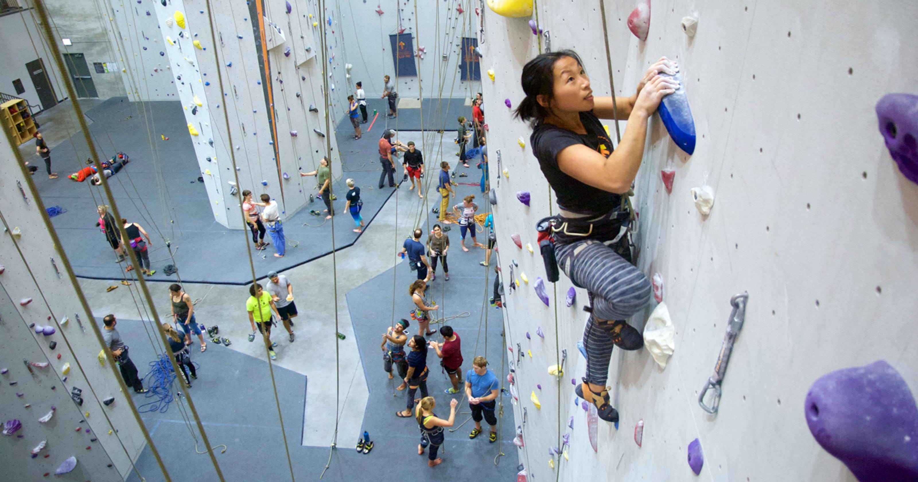 e8f90a066fb Stay active year-round with indoor climbing walls