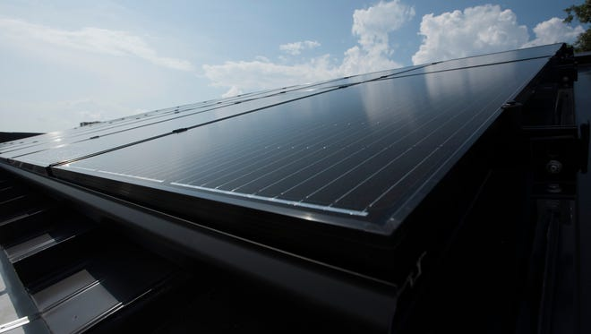 Gulf Breeze High School now boasts 16 new solar panels to help supply power to the school.
