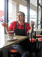 Maria Villasenor, owner of Chismes Cafe, said she opened near the future Plaza Mariachi because of its promise of attracting many Hispanic customers.