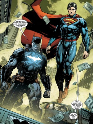 "Batman and Superman are on the case when an outbreak of the Amazo virus occurs in ""Justice League"" No. 36."