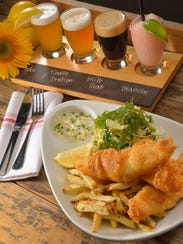 The SunBru beer battered fish and chips at Salty Sow.
