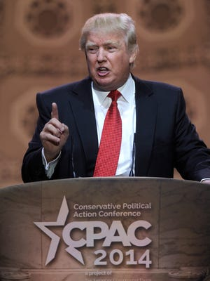 Donald Trump speaks at the Conservative Political Action Committee annual conference in National Harbor, Md., last week.