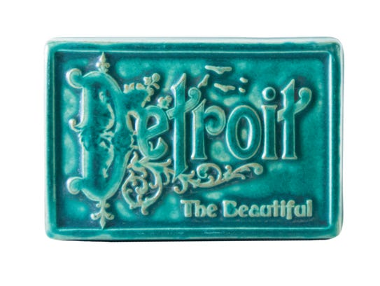 Detroit tile, $50 at pewabic.org