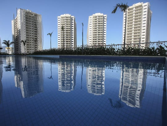 The Olympic Village, where athletes will be living