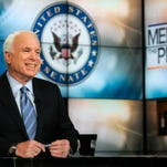 "Sen. John McCain, R-Ariz., appears on ""Meet the Press."" (William B. Plowman/NBC NewsWire via Getty)"