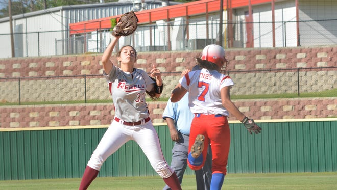 Pineville's Rebecca Martin (33,left) will participate in the LHSCA/LSCA All-Star Game May 20-21 at Louisiana College.