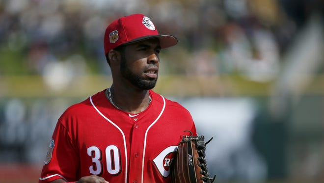 Arismendy Alcantara's bat came through for the Reds on Saturday-his home run gave the team the lead.