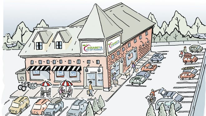 A rendering of the proposed new Assabet Co-op Market in Maynard