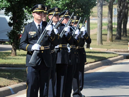 The Wichita Falls Police Department Honor Guard rifle