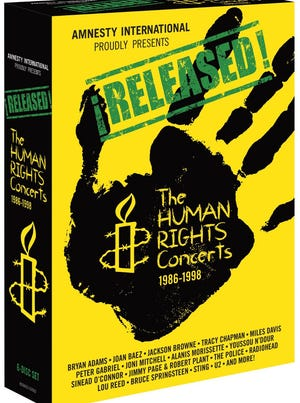 'Released: The Human Rights Concerts' arrives on DVD this week.