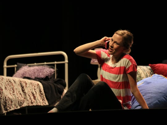 """Jennifer Smith plays Lucy in St. George Opera's production of """"The Telephone"""" by Gian Carlo Menotti."""