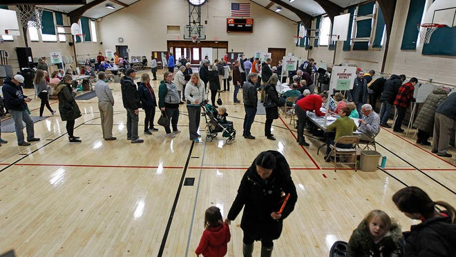 Cedarburg voters turn out for the midterm elections to cast ballots in the Community Center Gym.