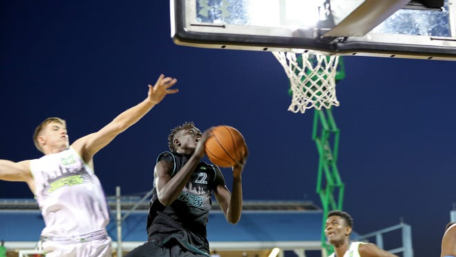 Team Doo Be Doo's Wenyen Gabriel #22 in action against Team EZ Pass in the Under Armour Elite 24 game on Saturday, August 22, 2015 in Brooklyn, NY.
