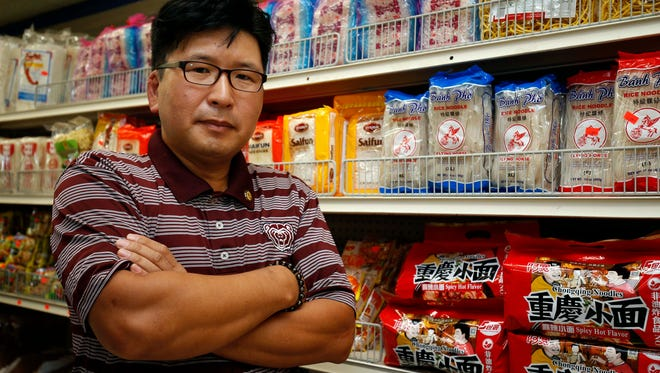 Sangyeal Lee seen at his Asia Food and Gift Market on South Glenstone Avenue in Springfield on June 8, 2018.