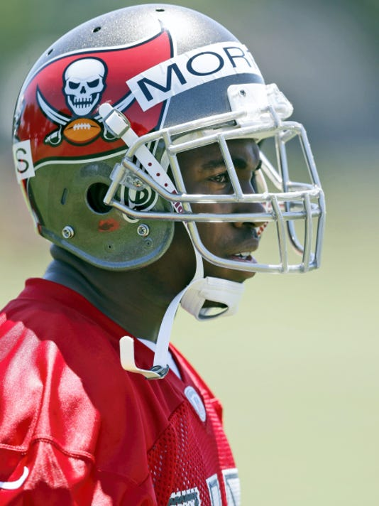 Cornerback Stephon Morris participates in an NFL rookie minicamp with the Tampa Bay Buccaneers earlier this month in Tampa, Fla. The former Penn State player recently finished his degree and is hoping to sign with an NFL team.