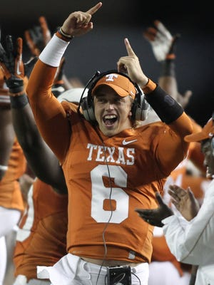 Texas' Case McCoy on the sideline in 2012.
