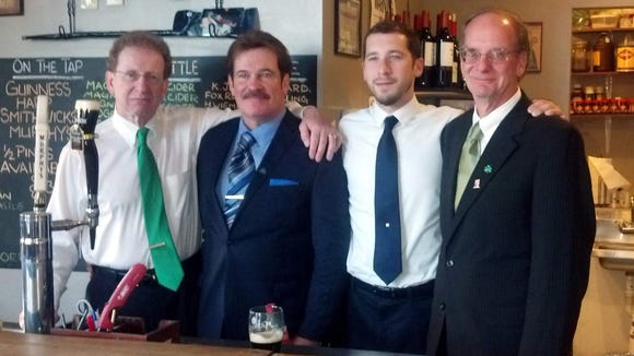 Three of Joe Barry's sons, (L-R) Chris, Mark and Hon. David (Mike) Barry, Sr., with Danny Barry.
