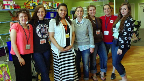 Owner Shannon Lapoukhine (center) with several of her staff members.