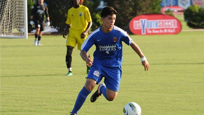 Amirgy Pineda of the  Fullerton (Calif) Rangers U-17 soccer team is one of the top young players in the country.