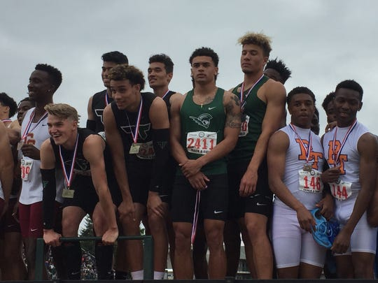 West Salem's state runner-up 4x100 relay team.
