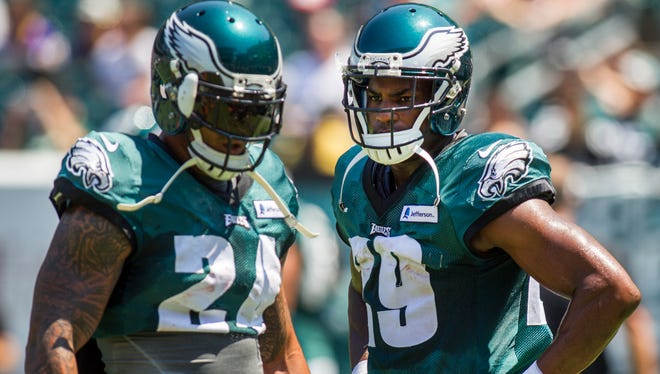 """Eagles running back Ryan Matthews (No. 24) said it was """"a little"""" tough sharing carries with DeMarco Murray (No. 29) last season."""