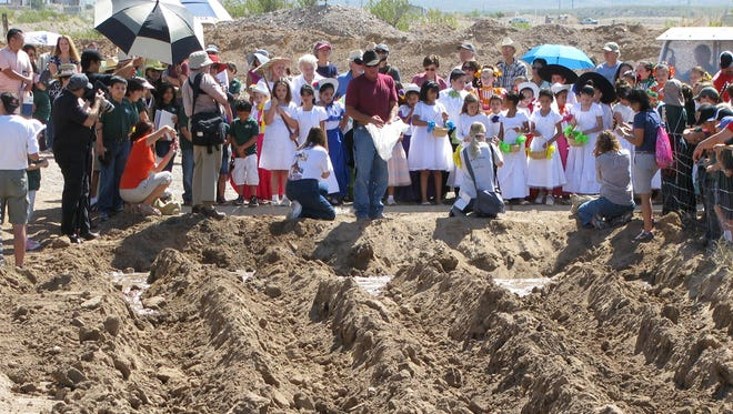 Blessing of the Fields at New Mexico Farm & Ranch Museum.