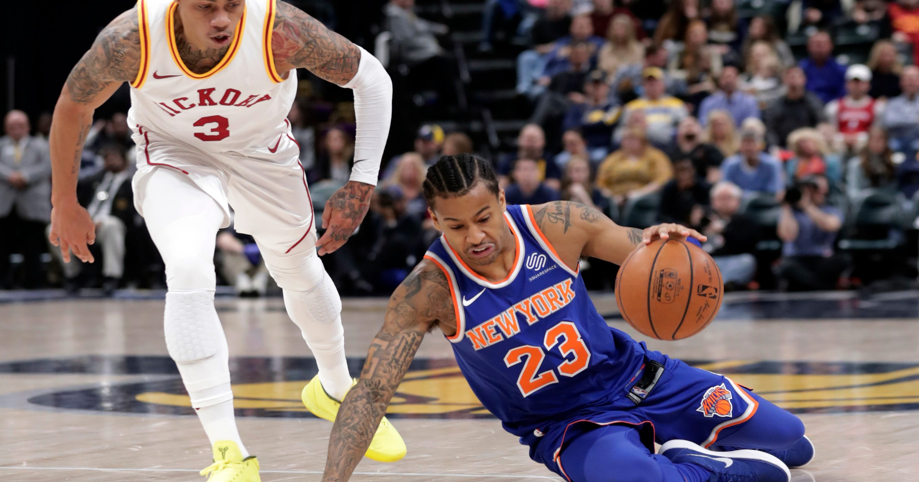 16d9f01dbe5 Oladipo scores 30 points as Pacers beat Knicks 121-113