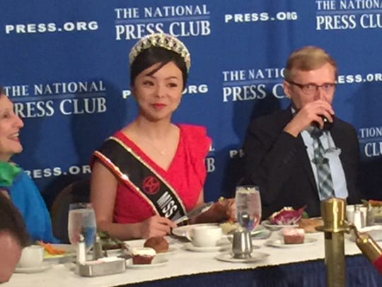 Lin spoke at the National Press Club in Washington,