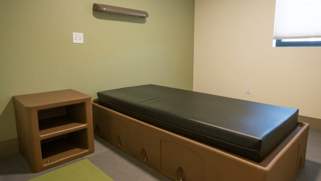 A room at SummitStone Health Partners' mental health crisis center, 1217 Riverside Ave. in Fort Collins in August. The location serves and is capable of housing members of the community that may be struggling with anxiety or suicidal tendencies.