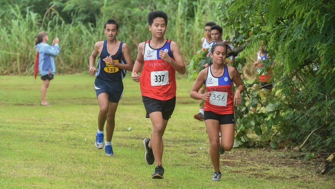 The St. John's Knights took on the Guam High Panthers for their Independent Interscholastic Athletic Association of Guam cross-country meet near Two Lover's Point on Sept. 12.