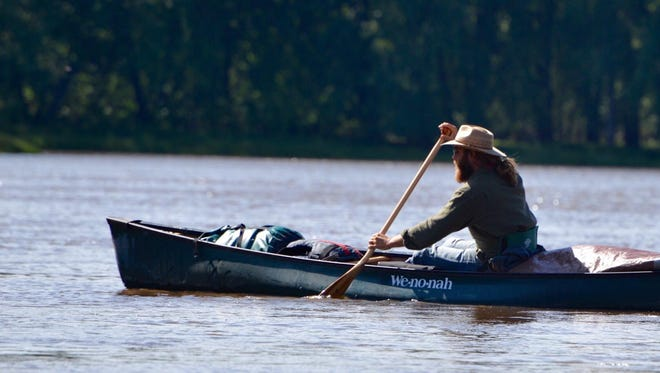 Matthew Burdine is paddling down the Mississippi River to raise money for cancer research.