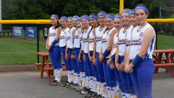 World Series-bound Canal softball players.