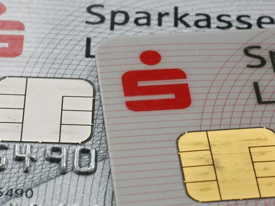 The chip of a German debit card by Germa