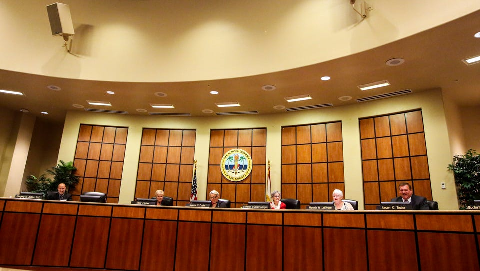 The Lee County school board will have four meetings