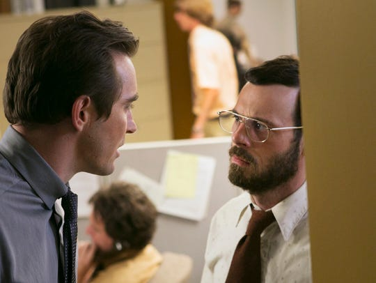Joe (Lee Pace) and Gordon (Scoot McNairy) have one