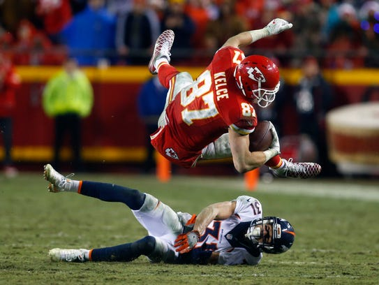 The Chiefs' Travis Kelce finished as the top-scoring