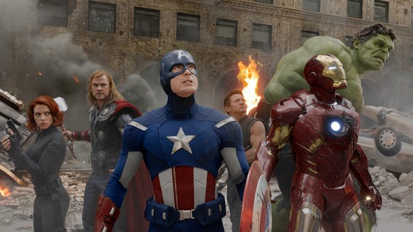 """The A-Team of Marvel heroes first got together in """"The Avengers"""" in 2012."""