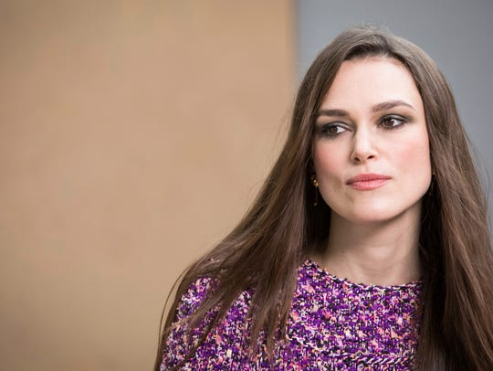 Keira Knightley on March 6, 2018, in Paris.