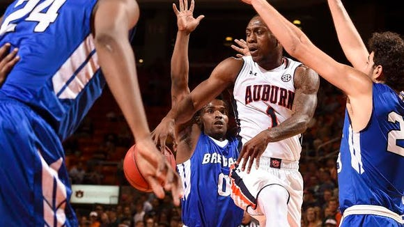Auburn guard Kareem Canty had 16 points in 27 minutes