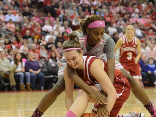 Amanda Cahill finished her career at Indiana second all-time in rebounds.