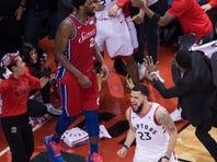 Leonard hits bouncer at buzzer, Raptors beat 76ers in Game 7