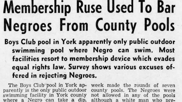 Jeff Kirkland posted this clipping from The Gazette and Daily in York as a comment on the Retro York Facebook Group. He pointed out that not everyone had great memories of swimming pools around York County in the 1960s.