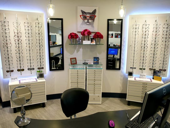 Lines of eyeglass frames are shown at InVision Eye
