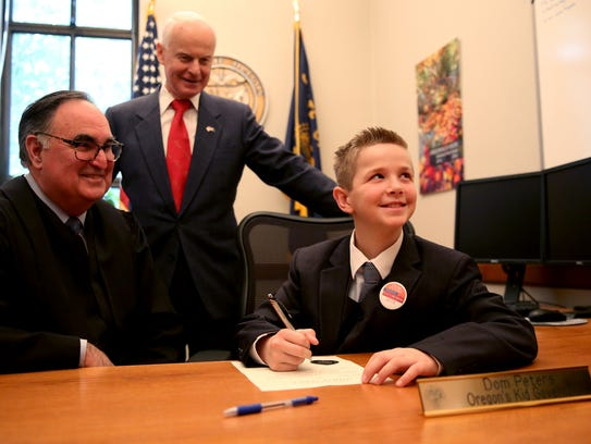Dom Peters, Oregon's first Kid Governor and a fifth
